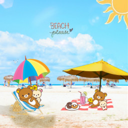 freetoedit rilakkuma challange beach relaxtime ecrelaxwithrilakkuma