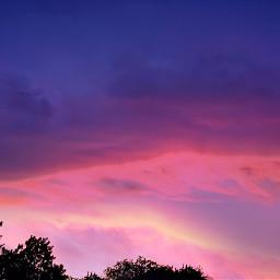 sunset blueandpink trees naturephotography texassky freetoedit