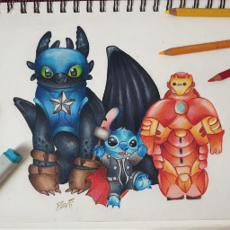 marvel dreamworks stitch toothless dragon freetoedit