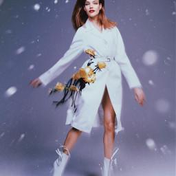 freetoedit girl race snow glitch irccoverofvoguechina