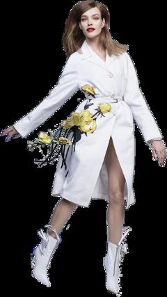 girl fashion person ftesticker flowers freetoedit