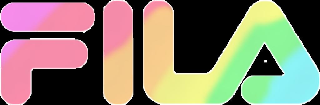 Fila Logo Bunt Colourful Rainbow Regenbogen Pastell Mar