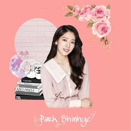 parkshinhye actress kdrama pink flowers freetoedit