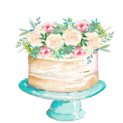watercolor cake flowers birthday anniversary freetoedit