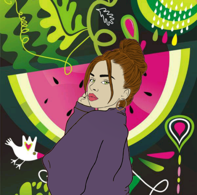 #freetoedit #watermelon #colorful #pattern #remix
