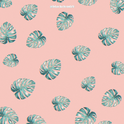 tropicalleaves madewithpicsart madebyme pink background freetoedit