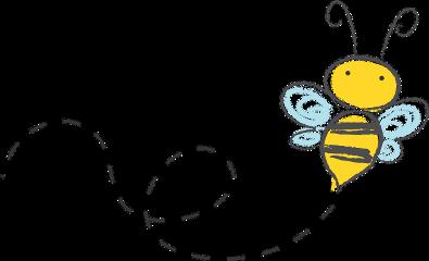 bee flying drawing scribble pencil freetoedit