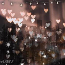 freetoedit city nigth lights hearts
