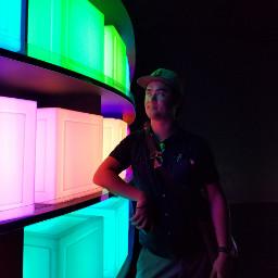 colorful lights rainbow