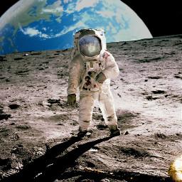 freetoedit earth moon armstrong apollo11 ircspacereflection