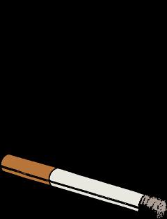 cigarette smoking smoke unhealthy cartoon freetoedit