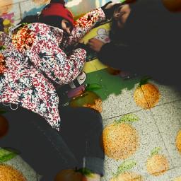 freetoedit mandarina maruchan banana danonino