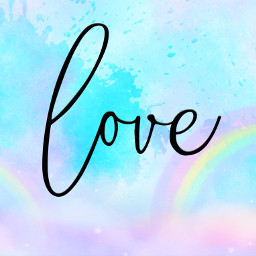 freetoedit background love rainbow acuarela ircwatercolor