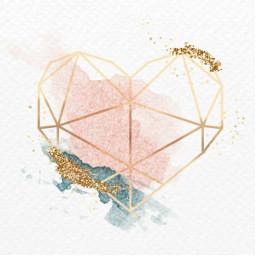 freetoedit love heart glitter geometry