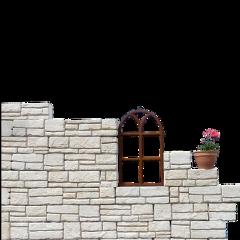 ftestickers wall stone flowerpot freetoedit