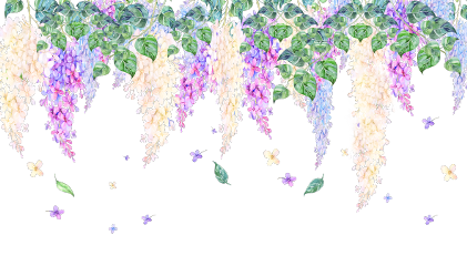 ftestickers watercolor flowers lilac border freetoedit