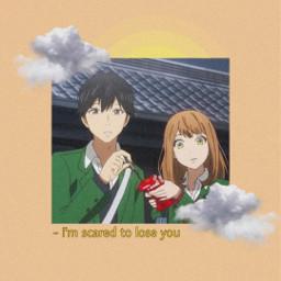 anime edit edits orangeanime clouds freetoedit