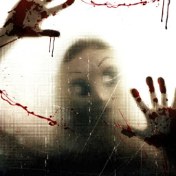 myedit creepy bloodsplatter stranger watchingyou freetoedit