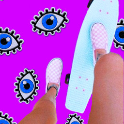 freetoedit evileyes skateboard illustration myedit