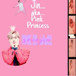 bts seokjin jin pinkprincessjin freetoedit