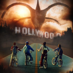 freetoedit strangerthings creature sky dust irchollywood