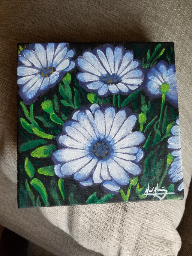 Flower painting for my kids teacher #art #artwork #painting #creative #colorful #flowers #beautiful