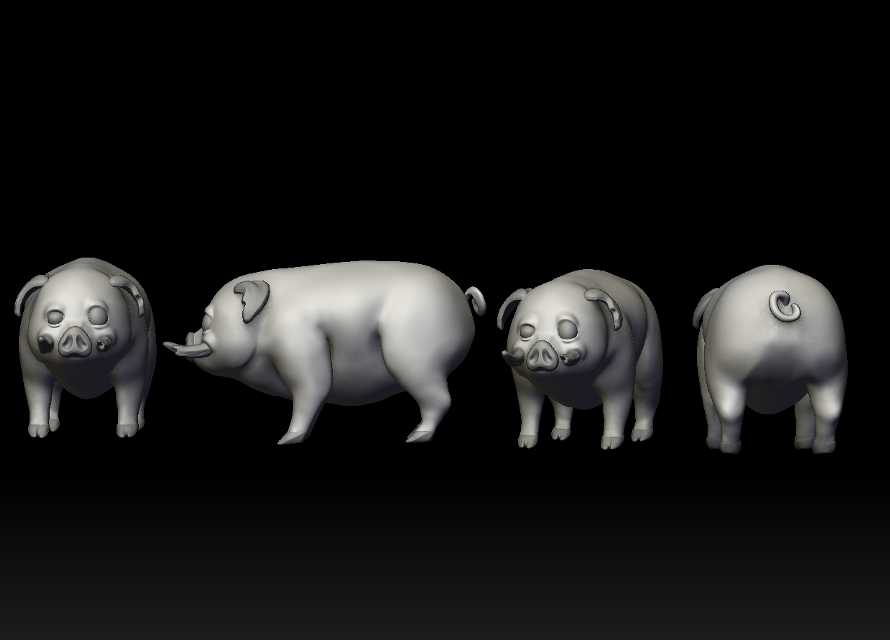 Meet the Chonker ! ❤❤❤ #pig #animals #animalsandpets #pigglet #boar #digitalsculpt #art #digitalart #3d #3dmodelling #3dmodel  #freetoedit