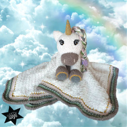 crochet stuffedtoy unicorn amigurumi toy freetoedit