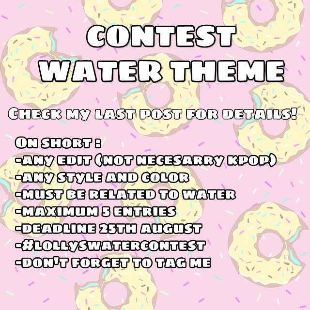 Contest on short details for everyone 😉  Check my latest edit with San for all the details💛  Hope you'll participate!   #lollyswatercontest  #kpop #bts #contest #anyone #freetoedit #details