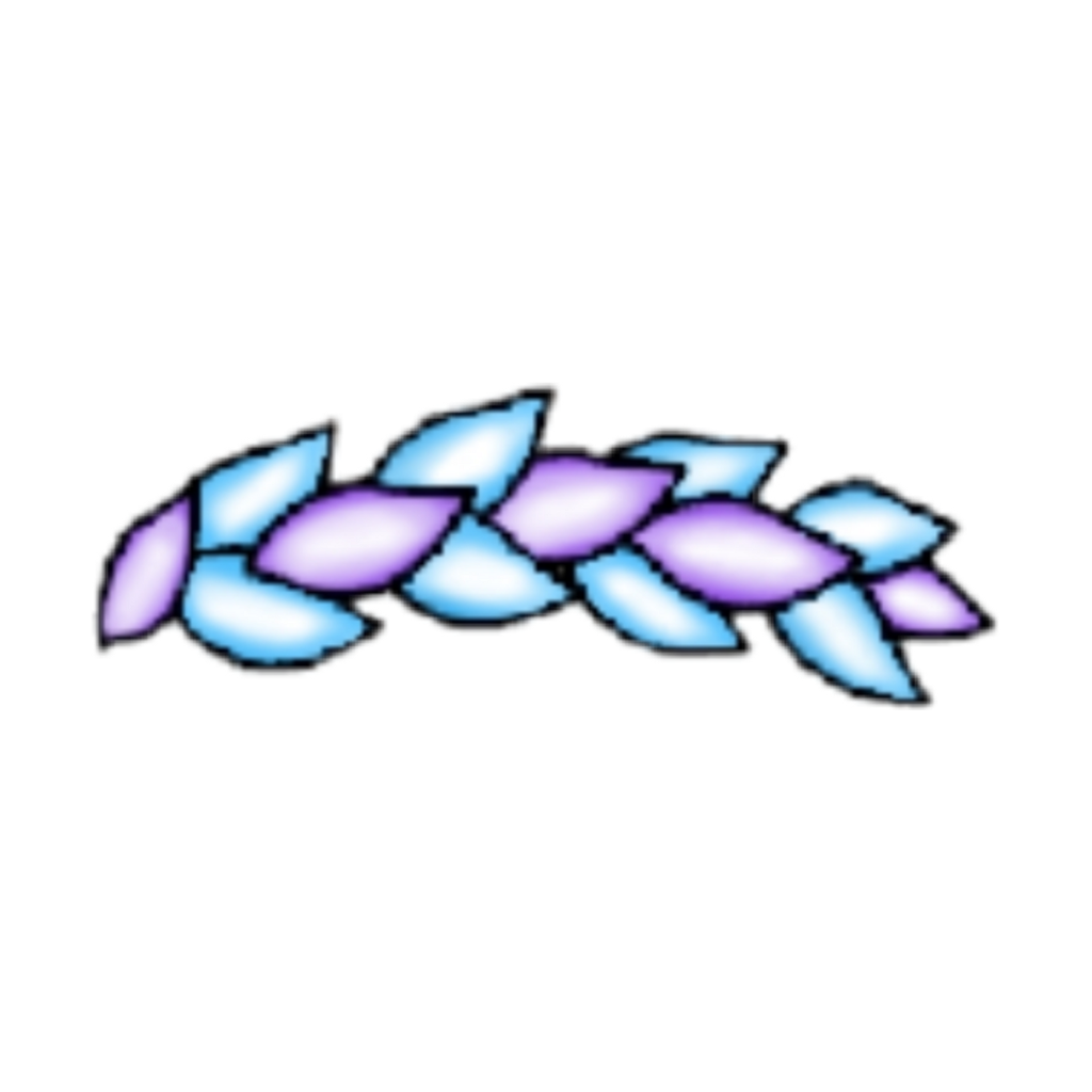 #gacha #leaf #purple #blue #gachahat #hat #gachalife
