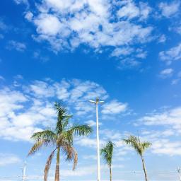 sky nature blue clouds blue_sky