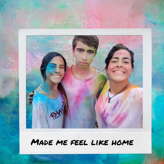 #freetoedit #colorful #colorsplash #beachparty #friendship #polaroid #colorpowder #bestfriends #fun
