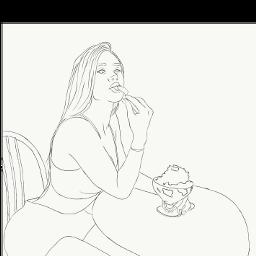 lanarhoades girl drawing draw freetoedit