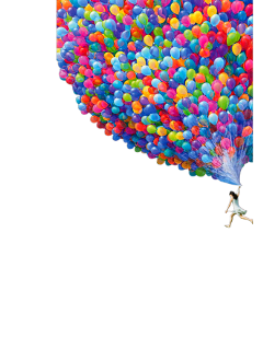 ftestickers fantasyart balloons woman flying freetoedit