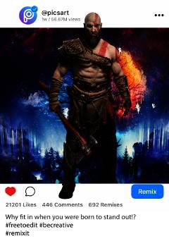 kratos freetoedit irc3dpicsart 3dpicsart
