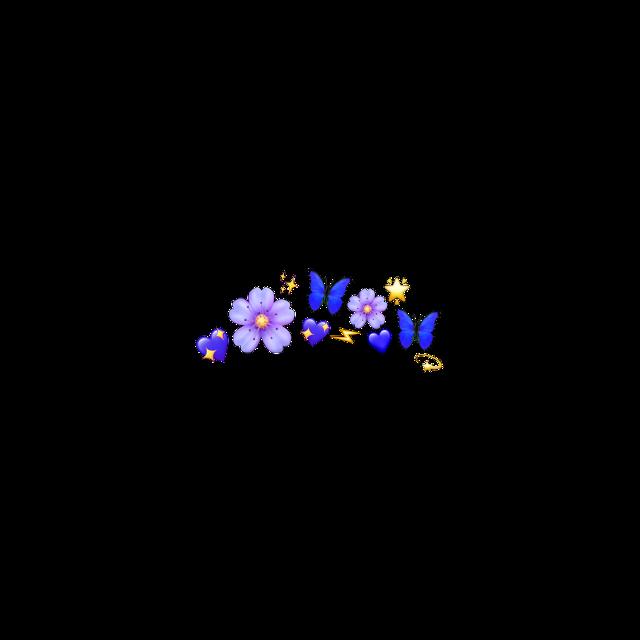 #flower #crown blue