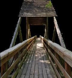 bridge ramp wooden lumber roof freetoedit