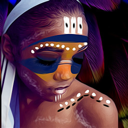 freetoedit ircbeautify tribal makeup