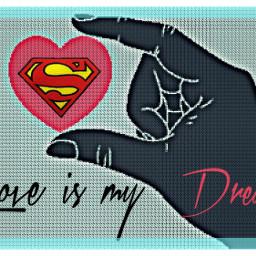 superman art love holdmyhand kiss freetoedit