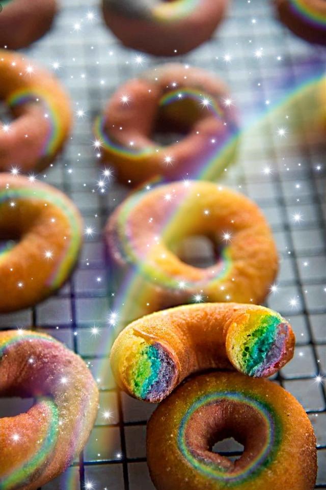 #freetoedit #rainbowlightcontest #rainbow #donuts #rainbowmagiceffect #RainbowDonuts