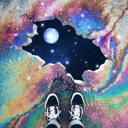 freetoedit universe moon colorful madewithpicsart