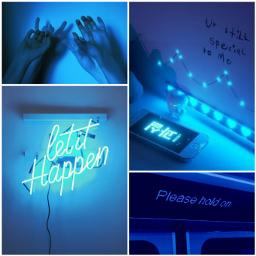 freetoedit aesthetic blue vibes ledlights