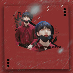freetoedit straykids hyunjin red black