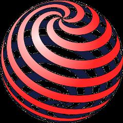 sphere ball spiral mathematics 3d freetoedit