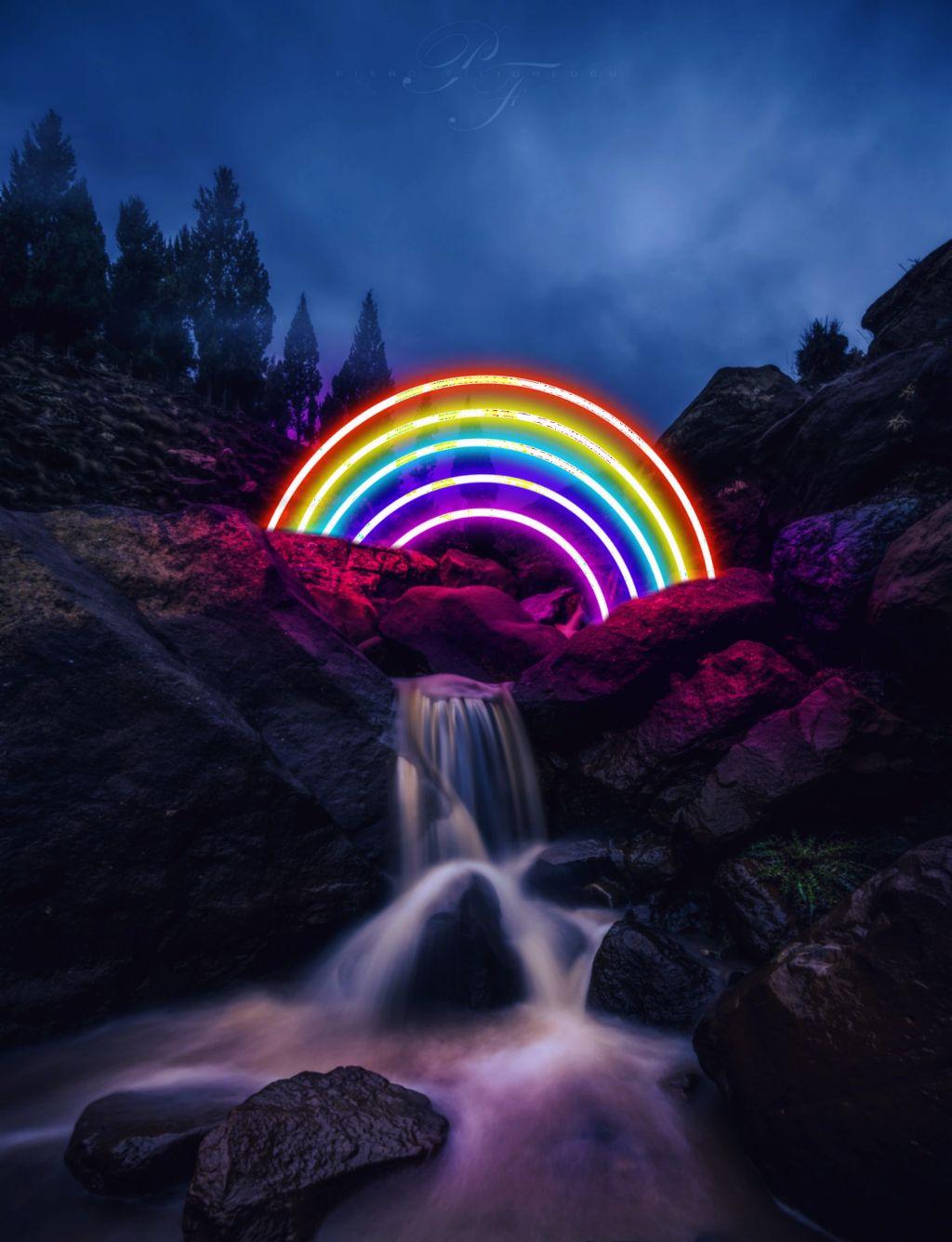 #freetoedit #rainbow #surreal #glow #millennialfltr