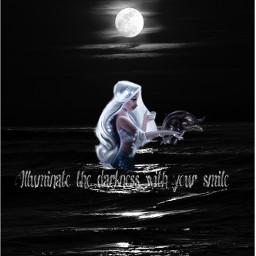 freetoedit darkness silent mysticalmermaid