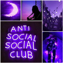 freetoedit aesthetic purple vibes lonely