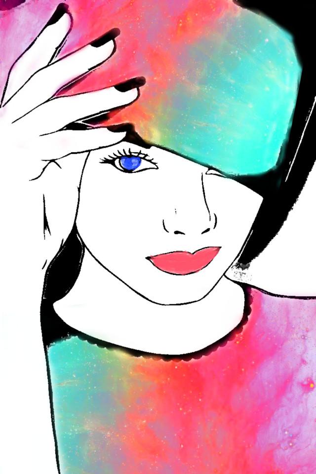 #freetoedit #vipshoutout #woman #portrait #sketch #blackandwhite #stickers #brushtools #adjusttools #picsarteffects #myedit #madewithpicsart