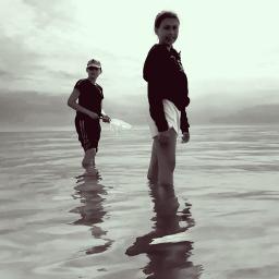 blacknwhite latvia mychildren sea pcwaterislife