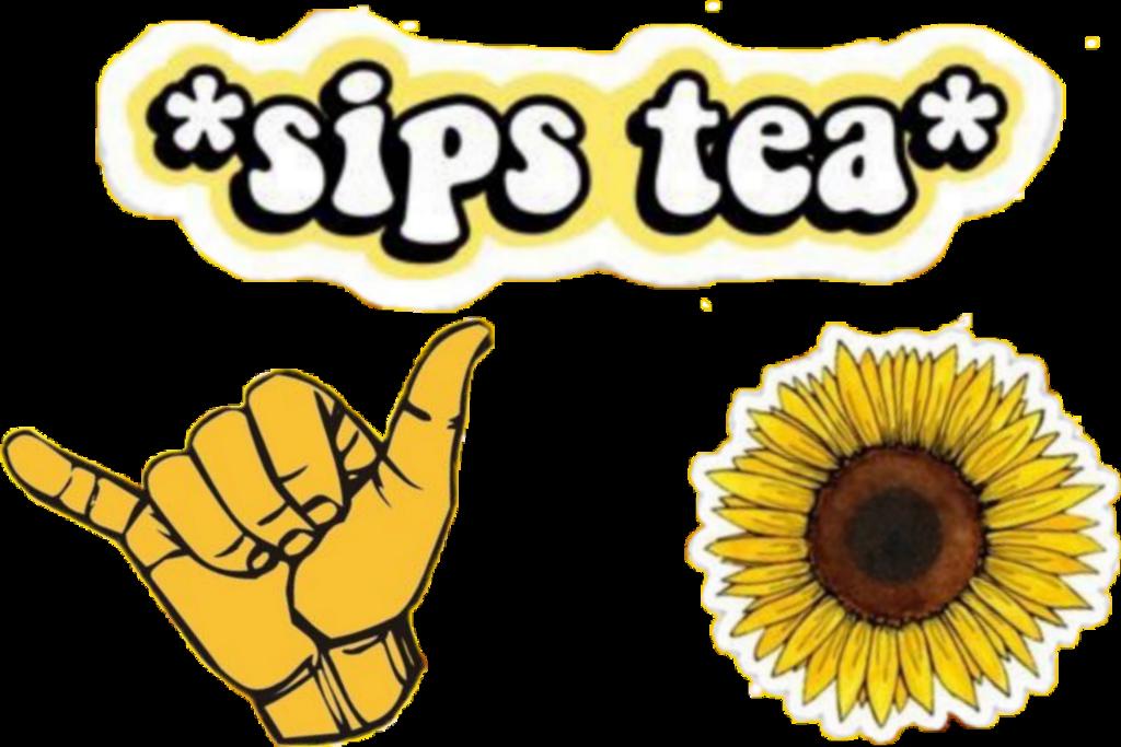 #yellow #sipstea #hangloose #sunflower